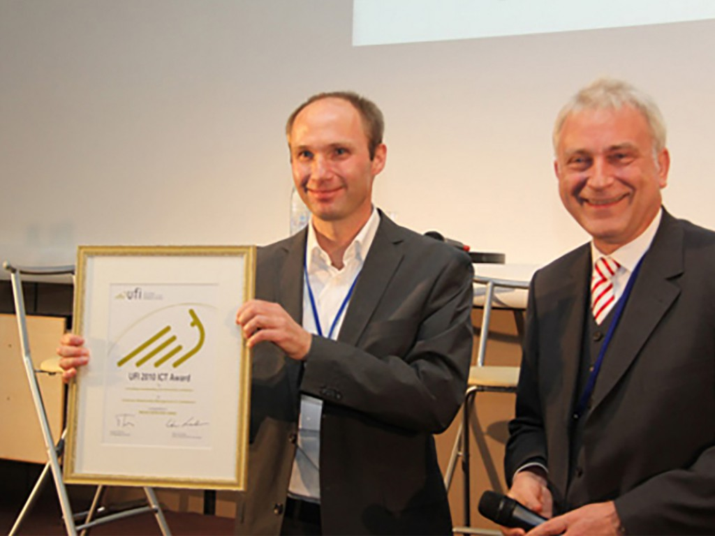 Left to right:Ulrich Besch (Messe München International, Germany)Werner Krabec, Chair UFI ICT Committee (Messe Düsseldorf GmbH, Germany)