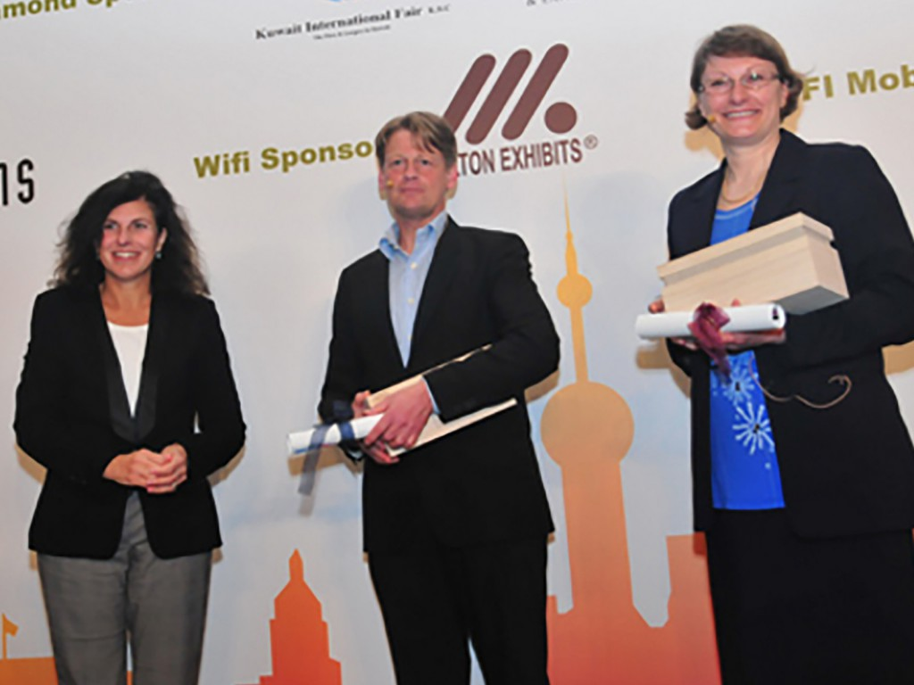 left to right; Maria Martinez, Chair of the UFI ICT Committee, Mattias Strauss, Founder and COO, InvitePeople (Sweden), and Helena Nilsson, Marketing & Communications Director, Stockholmsmässan